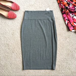 Eileen Fisher stretchy pencil skirt gray basic S P